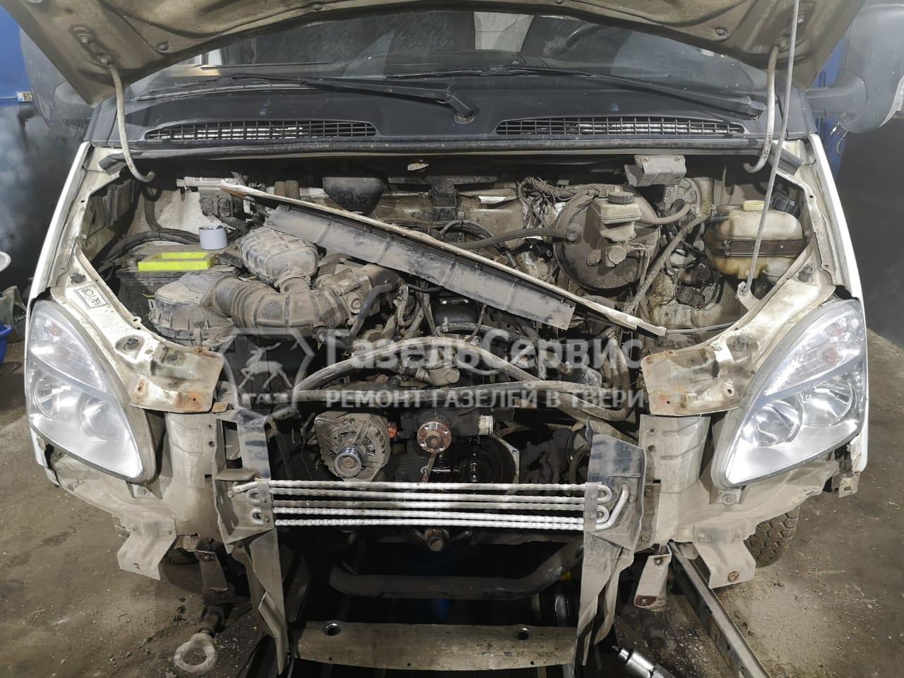 Ремонт Газели с двигателем УМЗ 4216. Снятие шестерни привода распределительного вала с УМЗ 4216 и произведена замена на новую.